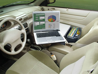 Secure The Desk With Seat Belt In Your Vehicle Laptop To Plate By Fits Most Cars Smaller Suv Ini Vans
